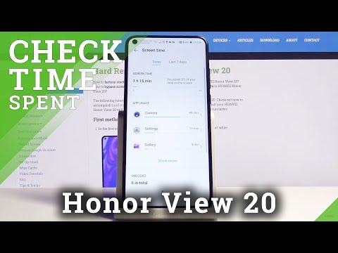 How to Check Total Screen Time in Honor View 20 – Screen Settings