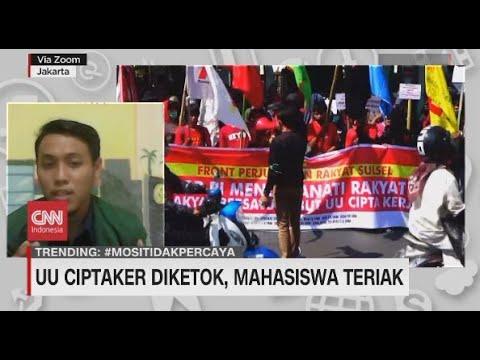UU Ciptaker Diketok, Mahasiswa Teriak