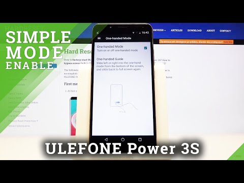 How to Make Your Screen Easy in Usage on Ulefone Power 3s - Activate One Handed Mode