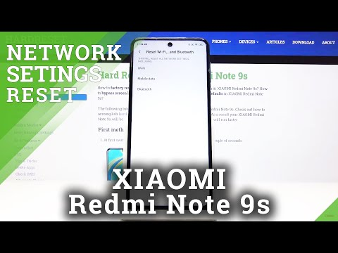 How to Reset Network Settings in XIAOMI Redmi Note 9s - Reset Wi-Fi List