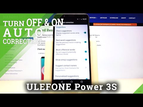 How to Find Auto Correction Settings in Ulefone Power 3s – Switch On / Off Auto Correction