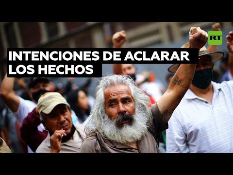 México: Los padres de los 43 normalistas se manifiestan a los 80 meses de su desaparición