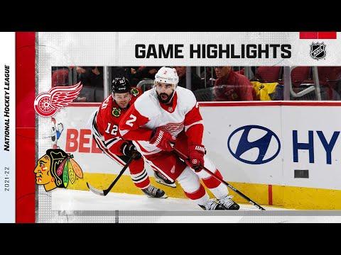 Red Wings @ Blackhawks 10/24/21 | NHL Highlights