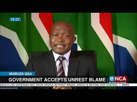 Mabuza Q&A   Government accepts unrest blame