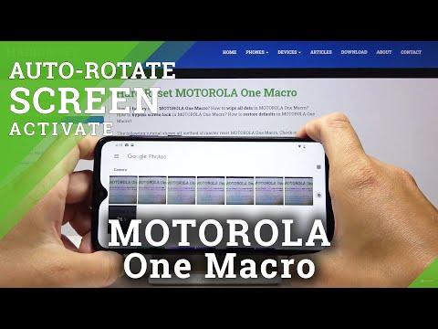 How to Turn On Auto Rotate in MOTOROLA One Macro – Enable Auto Rotate Screen