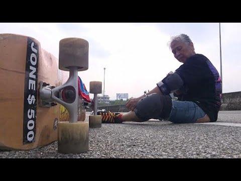Mujer de 63 años se cura un cáncer practicando Longboard