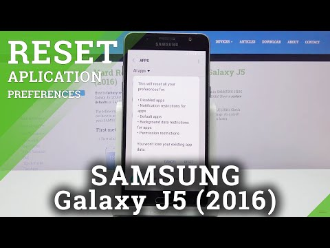 How to Reset App Preferences in SAMSUNG GALAXY J5 (2016) - Enter App Settings