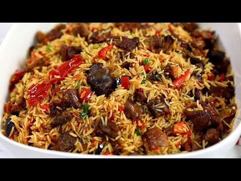 Perfect Goat Meat Fried Rice - Asun Fried Rice : Sisi Jemimah