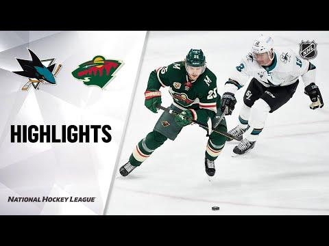 Sharks @ Wild 4/17/21 | NHL Highlights
