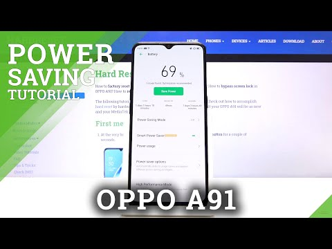 How to Turn On Power Saver in OPPO A91 - Low Power Solution