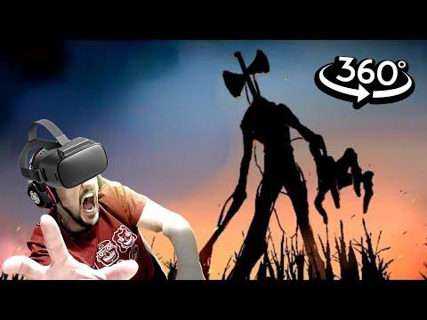 Funny Horror Animation VR 360 Siren Head vs FNAF Foxy
