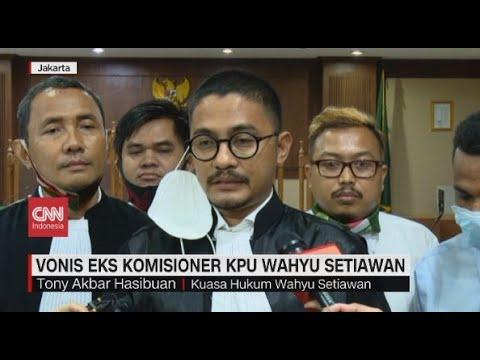 Eks Komisioner KPU Wahyu Setiawan Divonis 6 Tahun Penjara