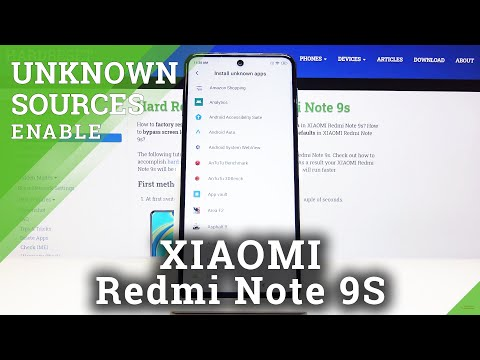 How to Download Apps from Unknown Sources on XIAOMI Redmi Note 9s - Apps Installation