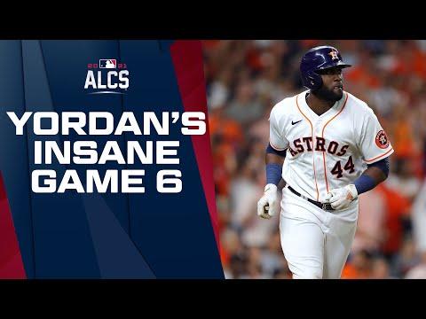 Astros' Yordan Alvarez GOES INSANE in ALCS Game 6!!! (4-for-4, 2 doubles, triple!)