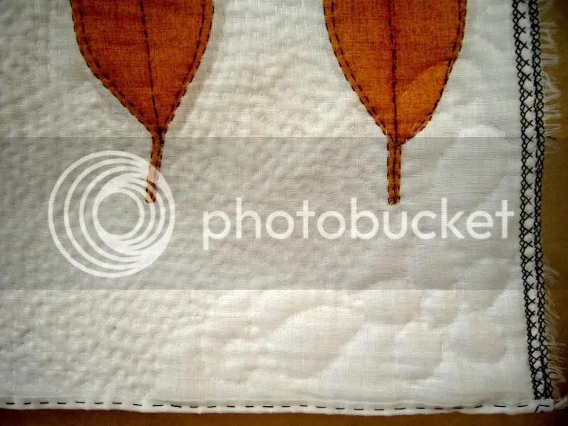 detaliu quilt frunze