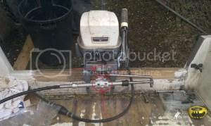 Parts for tiller conversion15Hp Evinrude 1993 Page: 1