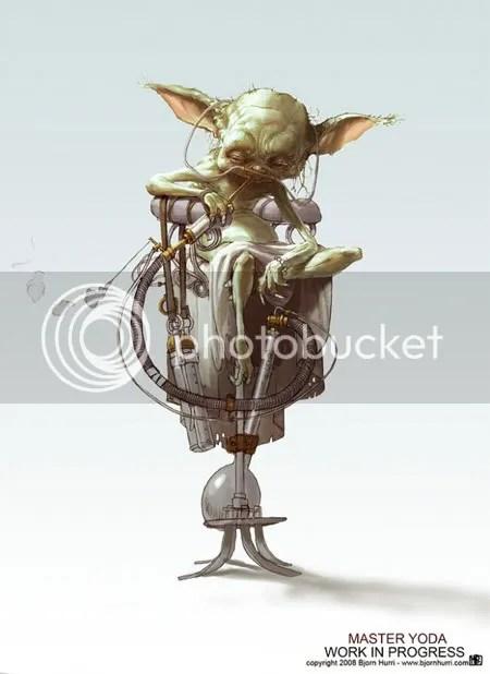 ILUSTRACIÓN. Maestro Yoda, por Björn Hurri, ¿fumando opio?