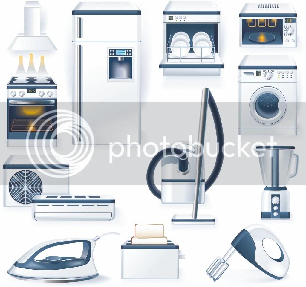 Electrodomésticos en vectores