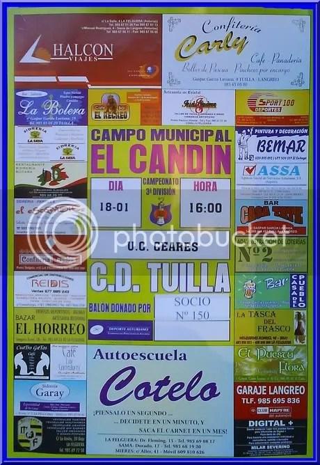 CARTEL TUILLA - CEARES