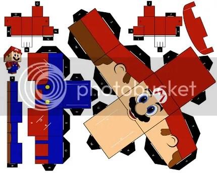 papercraft Cubeecraft mario