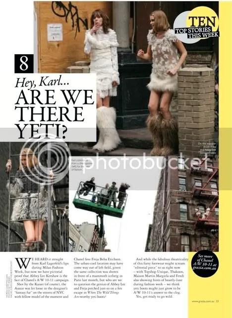 Grazia,The Greyest Ghost,Chanel,Karl Lagerfeld