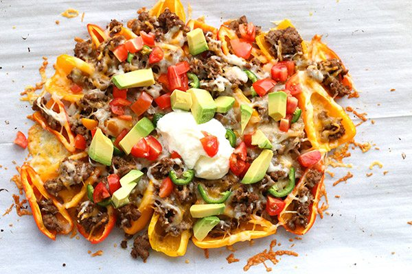 Mini Pepper Nachos Low Carb Snack