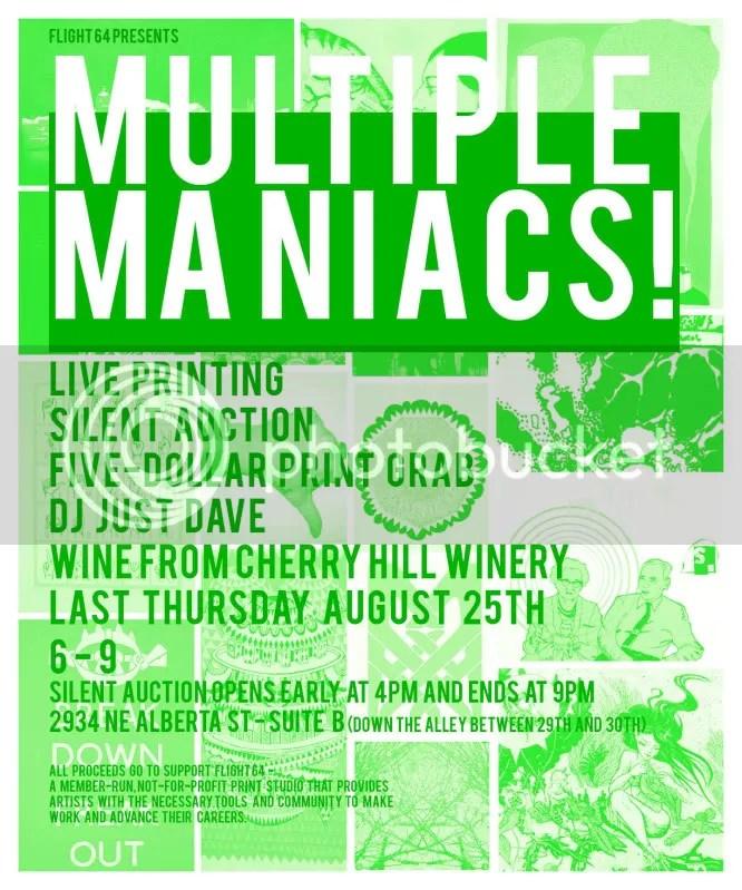 Multiple Maniacs!  Fundraiser for Flight 64