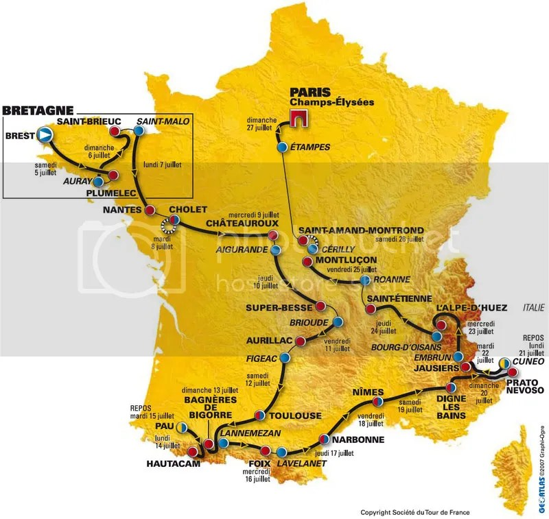 Tour De France 2008 Map