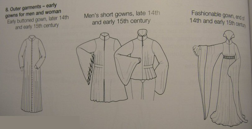 houppelande XV 15 e th robe médiévale medieval dress gown femme homme men women
