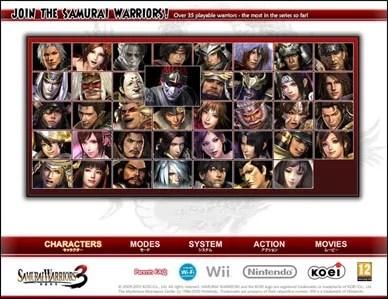 Samurai Warriors 3 Europe Official Site