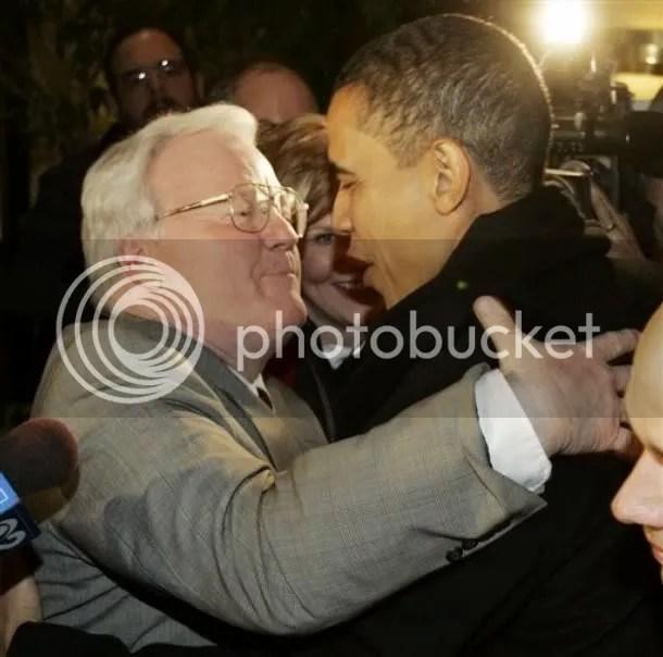 Larry Walsh with Barack Obama