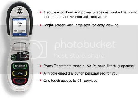 Jitterbug One-Touch Phone