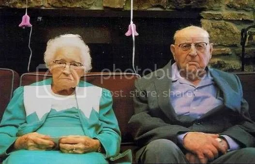 Unhappy Old Couple