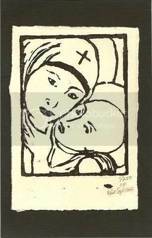 Unsigned Linoleum Block Print