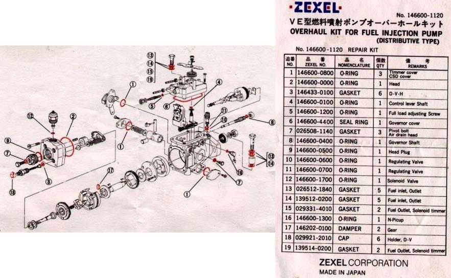 Zexel fuel Pump service manual