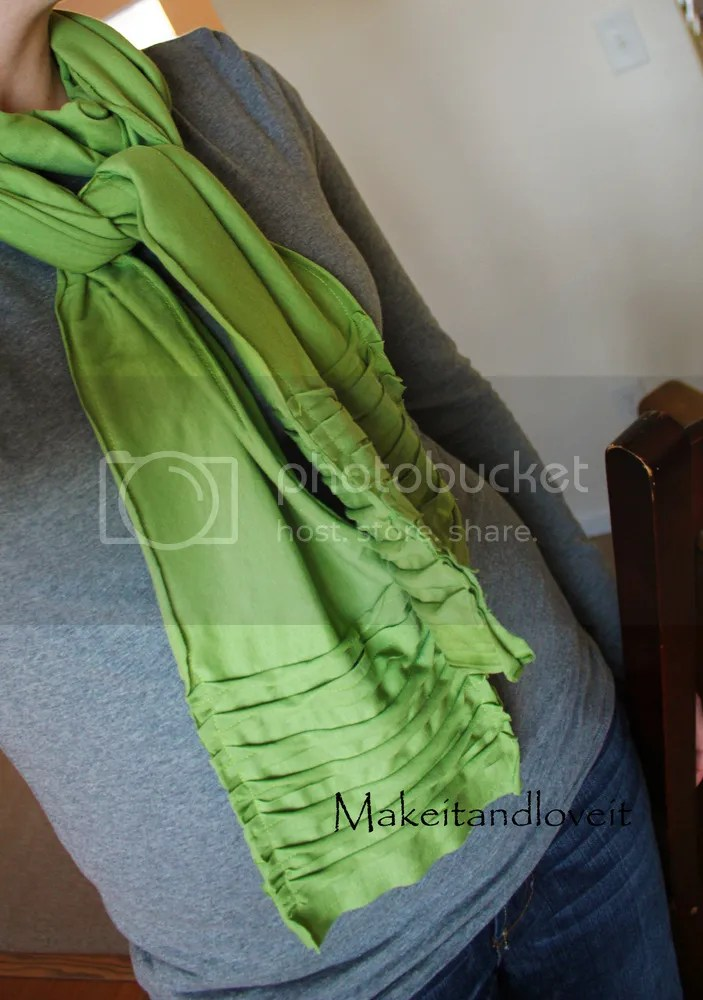Simple Sewing T-Shirt Scarf DIY Tutorial for Mothers Day