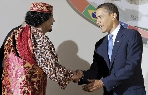 Obama Ghaddafi 06/09/09