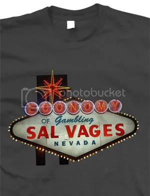 Las Vegas, economy of gambling - T-Shirt by Matt Simner