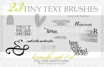 Download GIMP Brushes: 23 Text Tiny Text Brushes by Enn