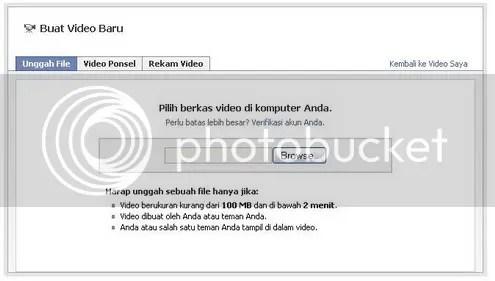 cara upload video dari hard disk komputer ke facebook