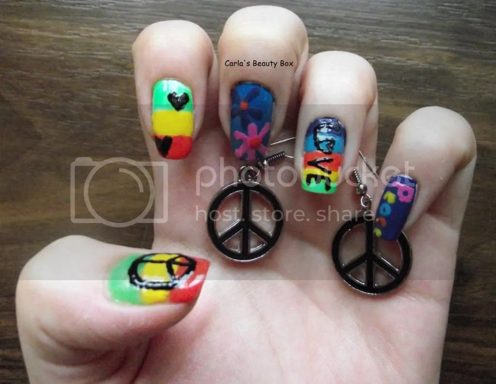 T.P.A Group Challenge: 17. Hippie nails (3/6)