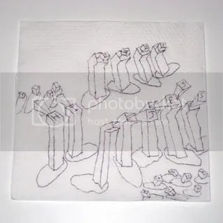 HI JESS napkin drawing