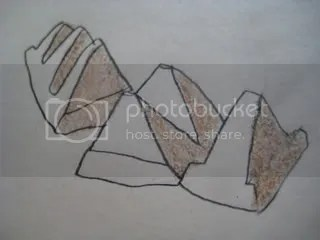 toblerone chocolate pyramids drawing