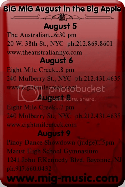 mig august shows in nyc