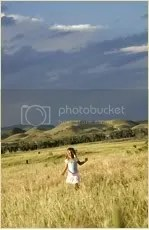 running through field