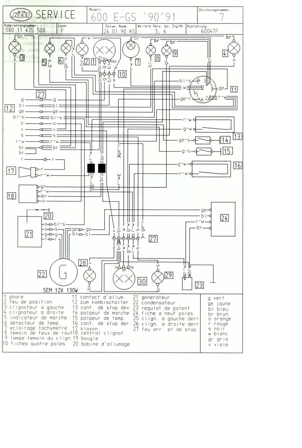 Circuit Electrique 600 Lc4 Ktmaddict 100 Ktm