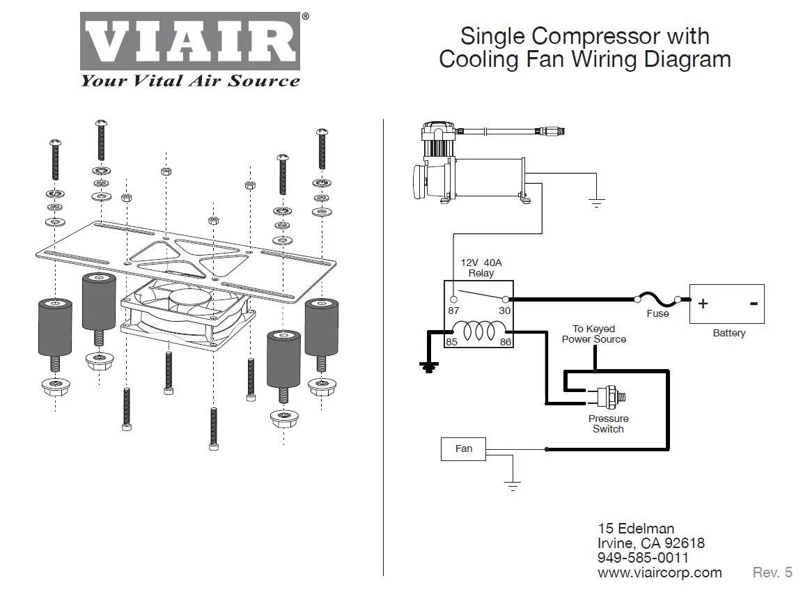 Viair Compressor Cooling Fan & Vibration Isolator Kit w