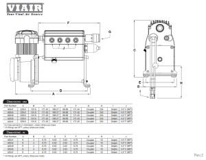 Viair Constant Duty ADA Jeep JK 0711 Air Locker Actuation