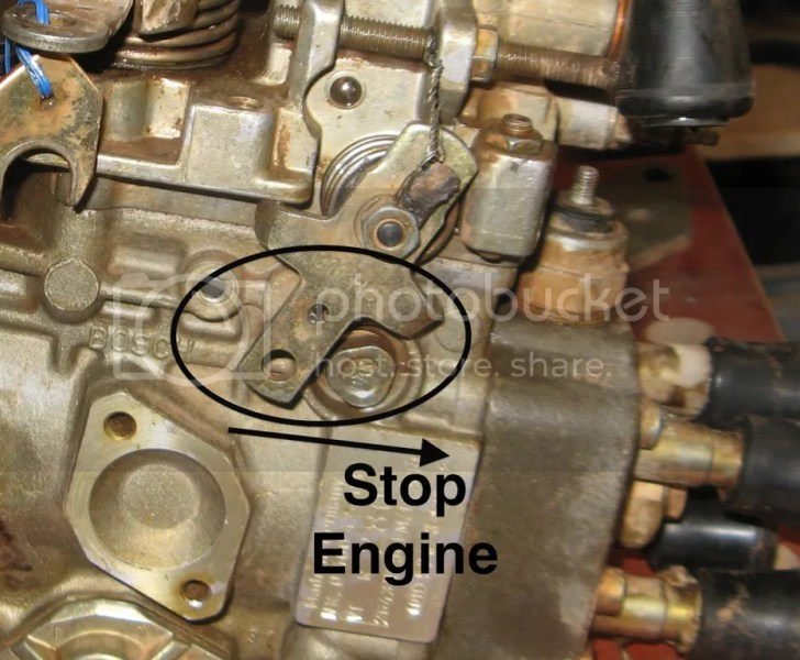 Replacing the Rear Seal on the VE Injector Pump   Dandjr s Weblog Mechanical Engine Stop Lever