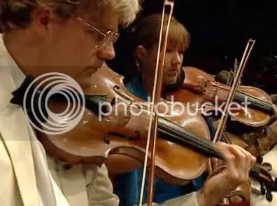 Violines en acción